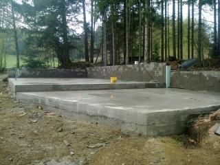 Fundament für die Zuchthalle